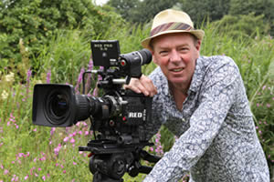 Martin on location with his RED (6K) camera
